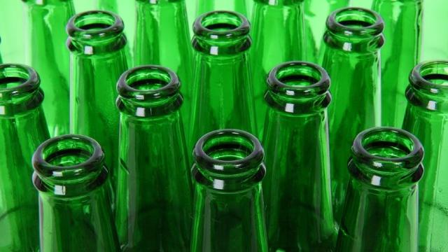 beer green bottle