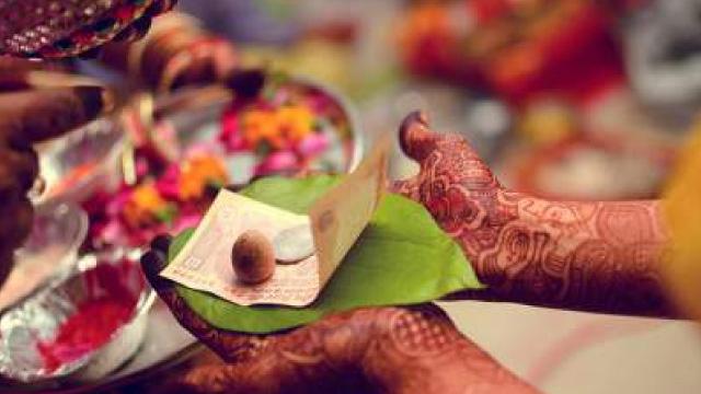 Shagun envelope carry a one rupee coin
